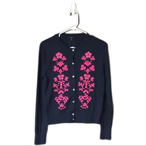 J. Crew Jackie Embroidered Cardigan-b7